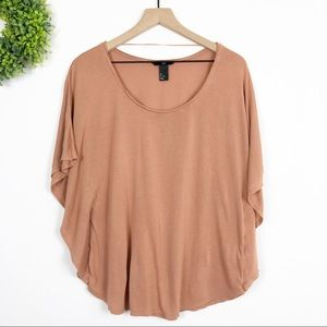 H&M || Taupe Nude Neutral Dolman Swing Tee L